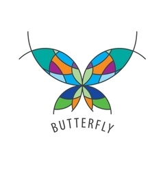 Logo butterfly vector