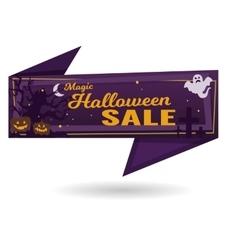 magic halloween sale banner vector image