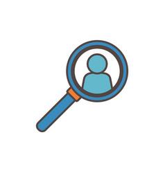 Magnifier avatar social media icon vector