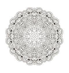 Mandala zentangl round ornament coloring relax vector