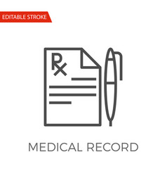 medical record icon vector image