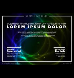 Modern art poster template vector