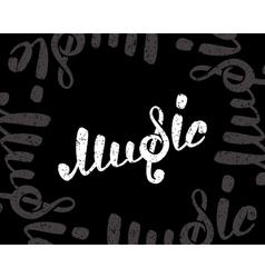 Music logo on black vector image