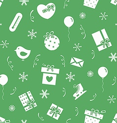 New Year party pattern vector image