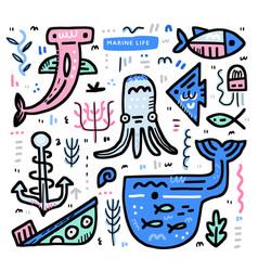 ocean life concept vector image