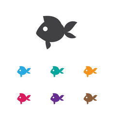 Of animal symbol on fish icon vector