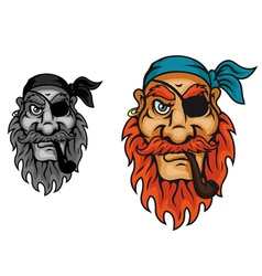 Old pirate captain vector image