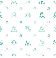 Operator icons pattern seamless white background vector