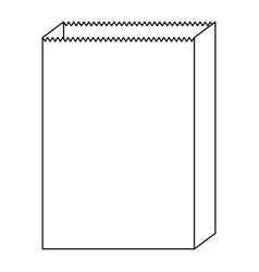 paper bag icon in monochrome silhouette vector image