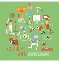 Professional competitive team sports concept vector image