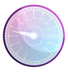 Race car speedometer icon cartoon style vector