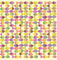 Retro seamless pattern of abstract easter eggs vector
