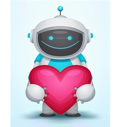 Robot with heart vector
