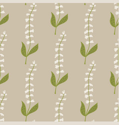 Seamless pattern white tinkerbell flowers on a vector