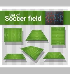 Set football field vector