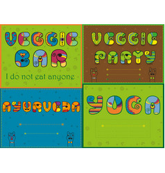 Set of funny inscriptions for invitation cards vector
