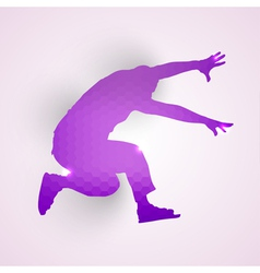 Silhouette of jumping man vector image
