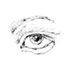 Sketch of female eye vector