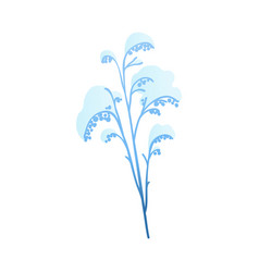 Snowy plant branch for vector