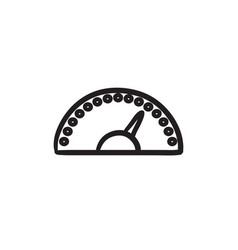 Speedometer sketch icon vector
