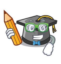 student graduation hat character cartoon vector image