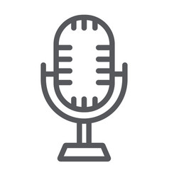 Studio microphone line icon music and audio vector