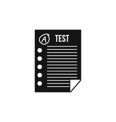 Test paper icon simple style vector