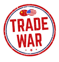 Trade war sign or stamp vector