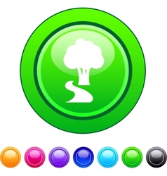 Tree circle button vector