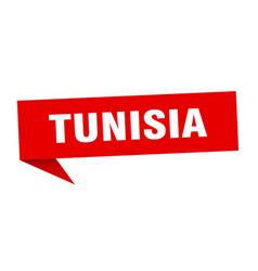 Tunisia sticker red tunisia signpost pointer sign vector