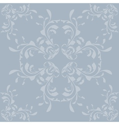 Vintage blue pattern background vector image