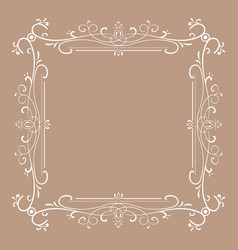 vintage frame for monograms vector image