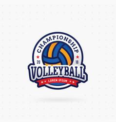 Volleyball tournament logo vector