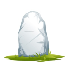 Wayside stone vector