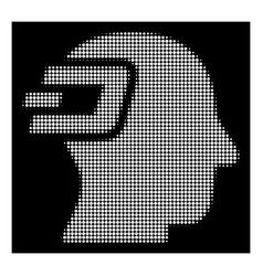 White halftone dash imagination icon vector