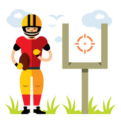american football player flat style vector image vector image