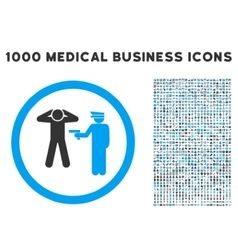 Arrest Rounded Icon With Medical Bonus vector image