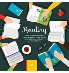 Reading club vector image