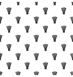 Shuttlecock pattern simple style vector image vector image