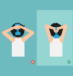 wrong and right lifting weight posture vector image vector image