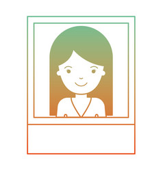 identification photo of woman with long straight vector image