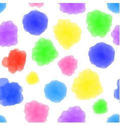 watercolor circles seamless pattern colorful vector image