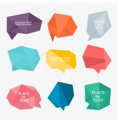 Colorful and decorated paper banners for your text vector