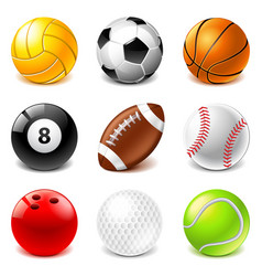 sport balls icons set vector image vector image