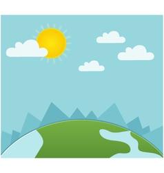 sunny landscape vector image