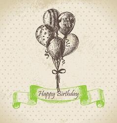 Balloons Happy Birthday hand drawn vector image