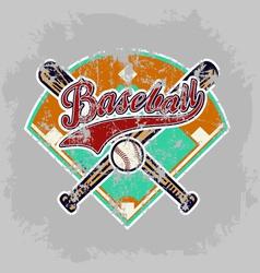 baseball field vector image vector image