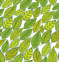 Green leaves seamless background floral seamless vector image