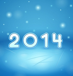inscription 2014 on Ice and snow vector image vector image