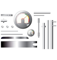 metal measuring elements and pipes - set vector image vector image